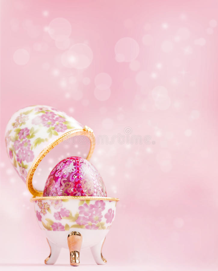 Porcelain egg decoration royalty free stock photos