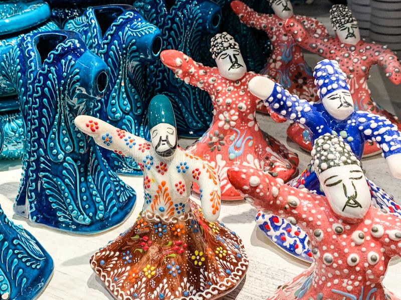Porcelain figures of Turkish folk dancers, a traditional royalty free stock photography