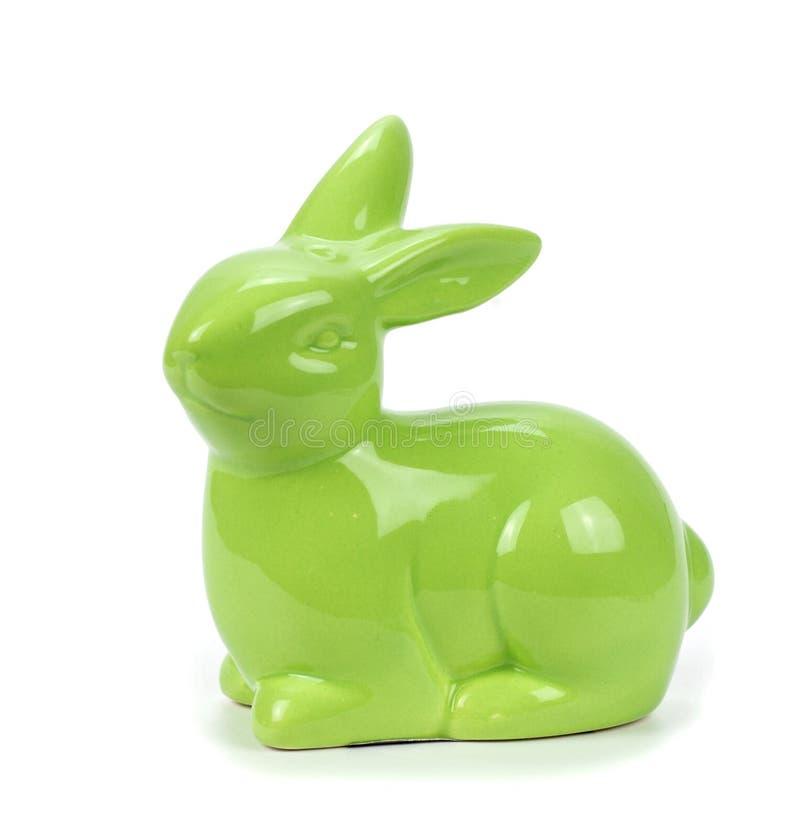 Porcelain hare on white stock images