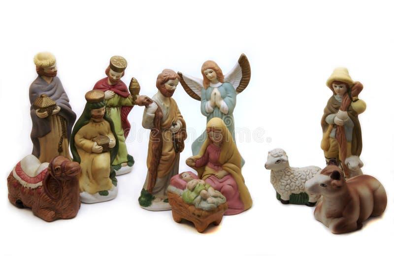 Porcelain Nativity royalty free stock images