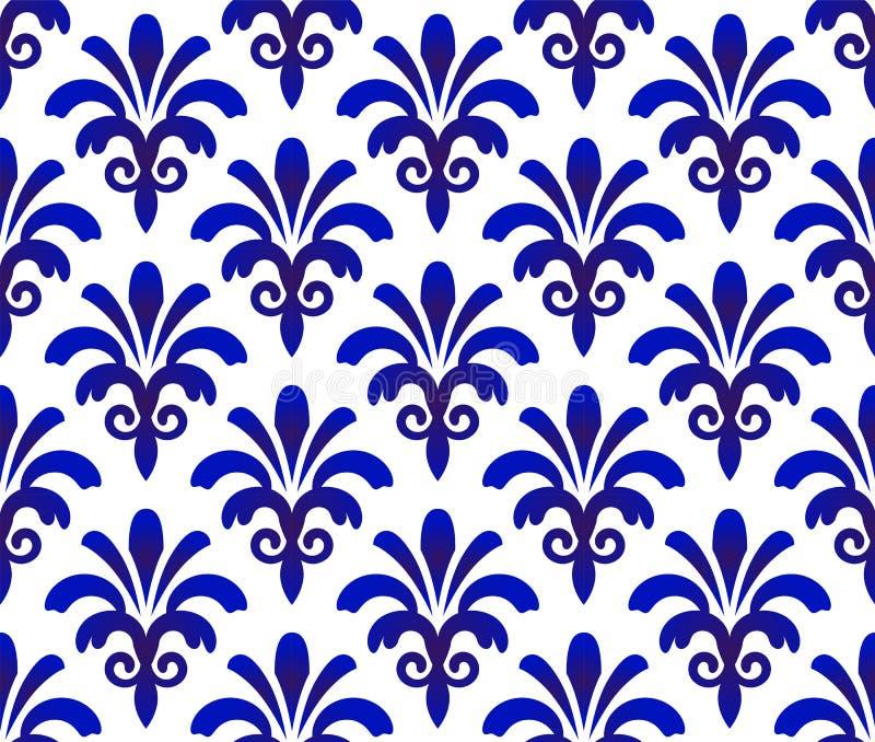 Porcelain pattern seamless vector royalty free illustration
