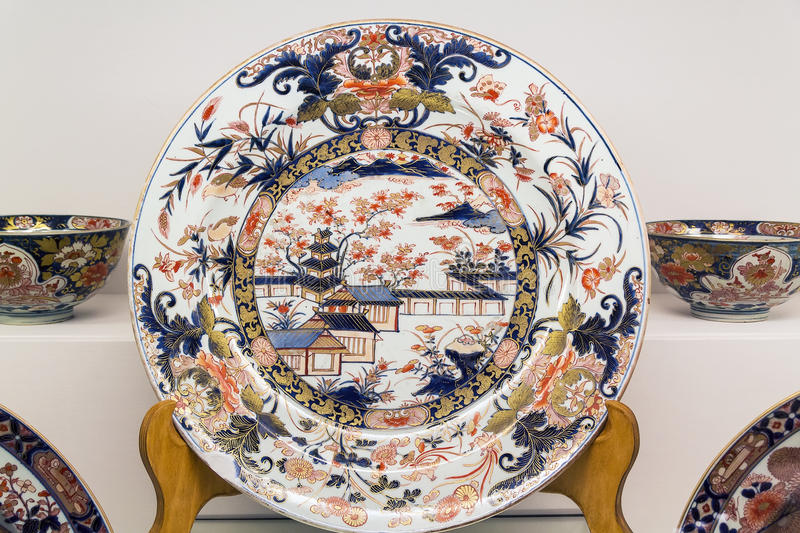 Porcelain plate royalty free stock photos