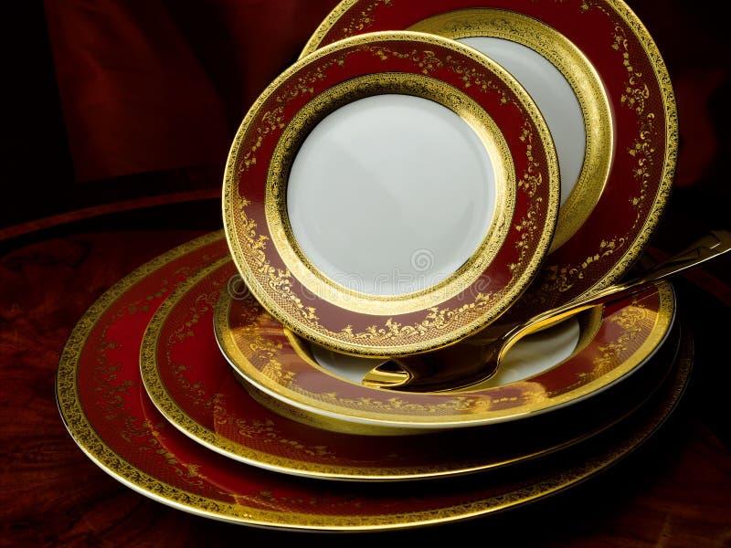 Download Porcelain plate set stock image. Image of dining, food - 39501435