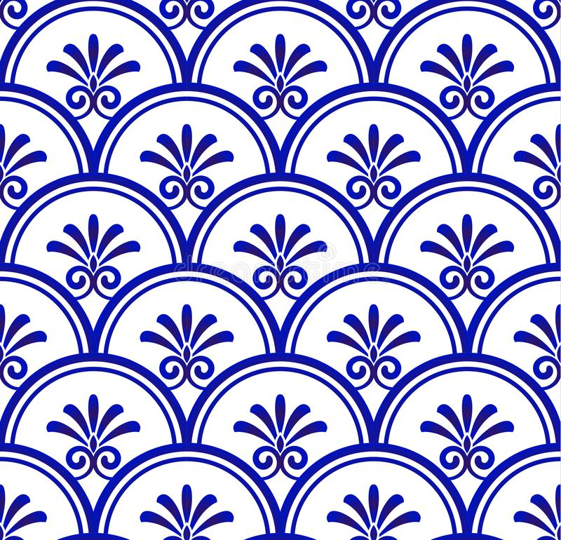 Porcelain seamless pattern stock illustration