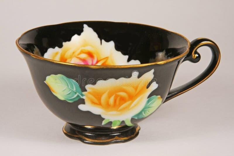 Porcelain Tea Cup. Porcelain Sati handpainted China porcelain tea cup made in Japan, image 2 stock photo