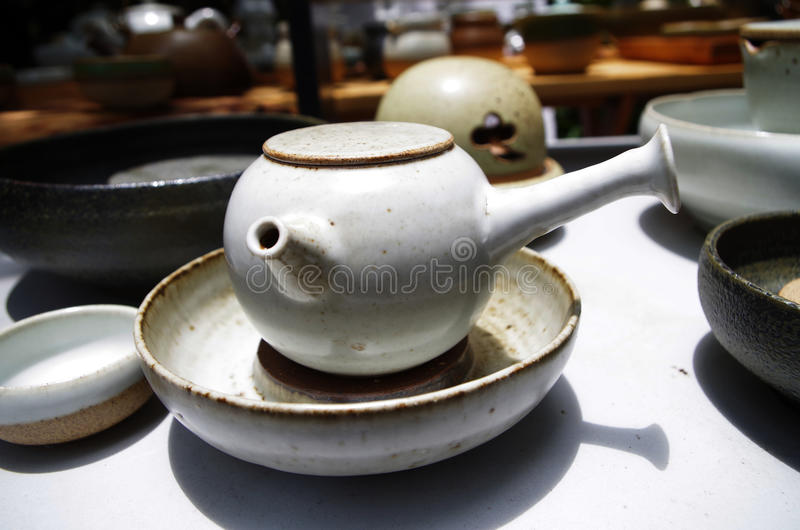 Porcelain Tea cup. Jingdezhen porcelain Tea cup,White Glaze,household china royalty free stock images