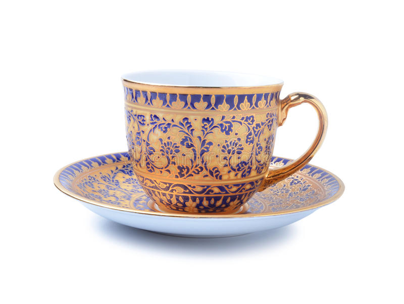 Porcelain tea cup on white background.  stock photography