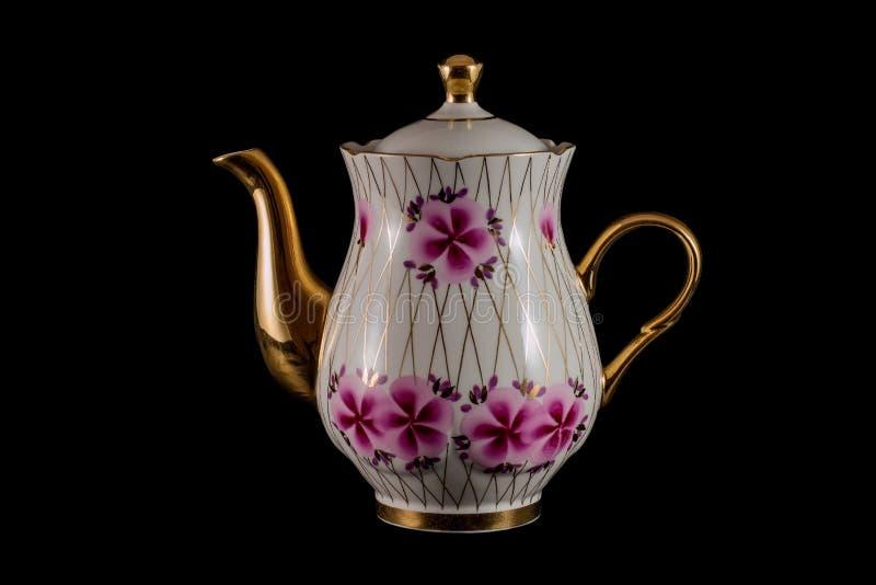 Porcelain teapot stock image