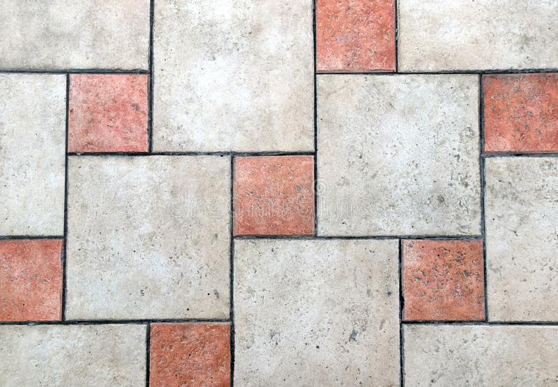 Porcelain tiles floor texture stock image