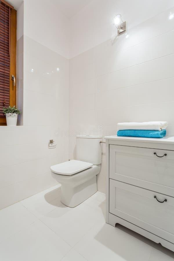Porcelain toilet stock photo