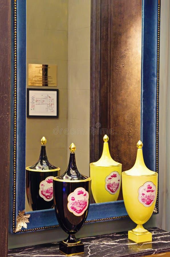 Porcelain vases royalty free stock images