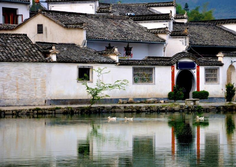 Porcelaine antique de hongcun de village photo libre de droits