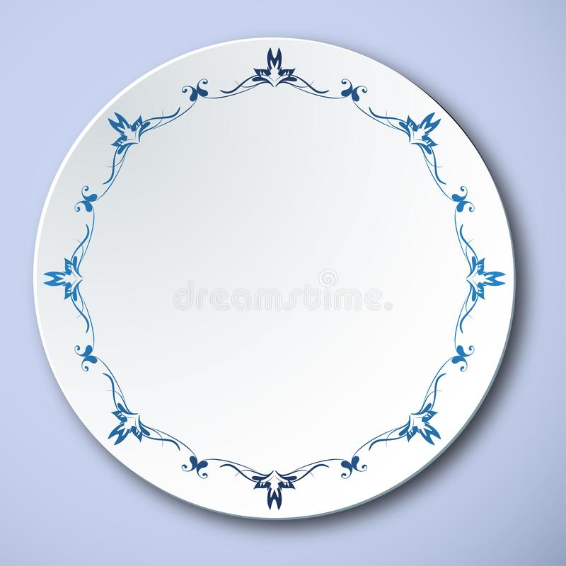Porcelaine bleue et blanche traditionnelle chinoise illustration stock