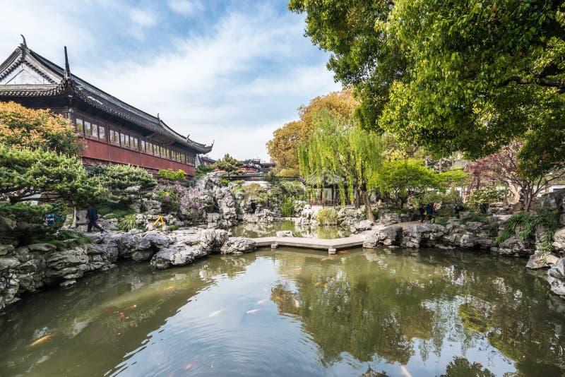 Porcelaine de Changhaï de jardin de Yuyuan image libre de droits