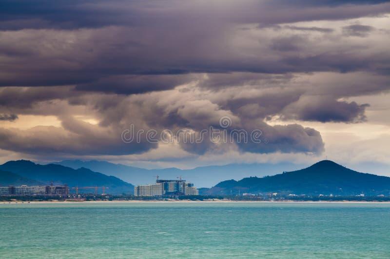 Porcelaine de Hainan de baie de Haitang photo libre de droits