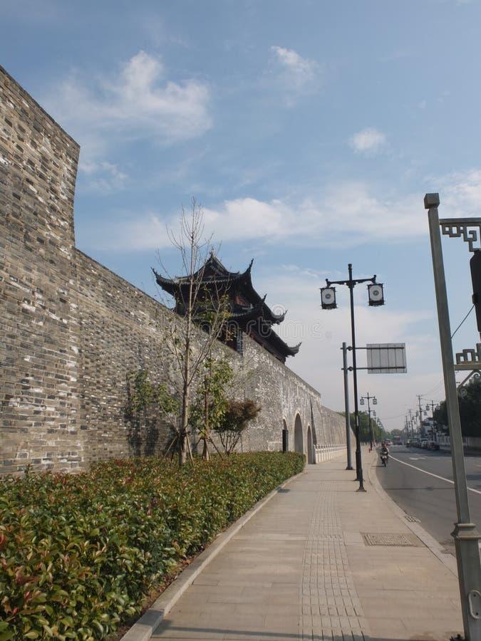 Porcelaine de Suzhou le mur de ville images libres de droits