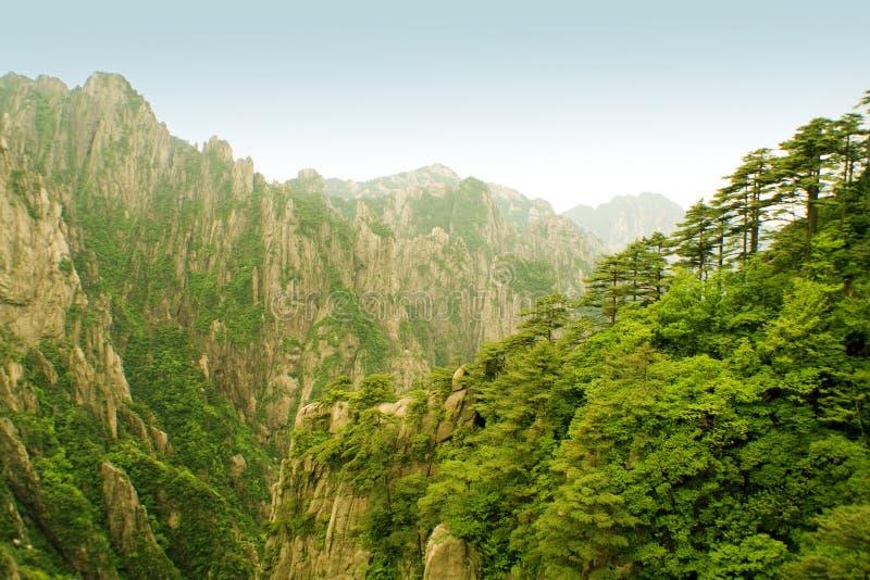 porcelaine huangshan incroyable photographie stock libre de droits