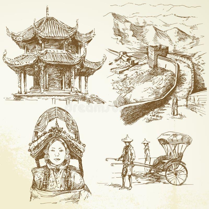 porcelana ilustracja wektor