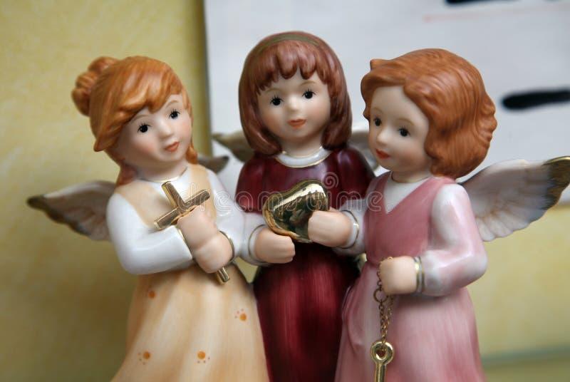 Porcelana aniołowie zdjęcia royalty free