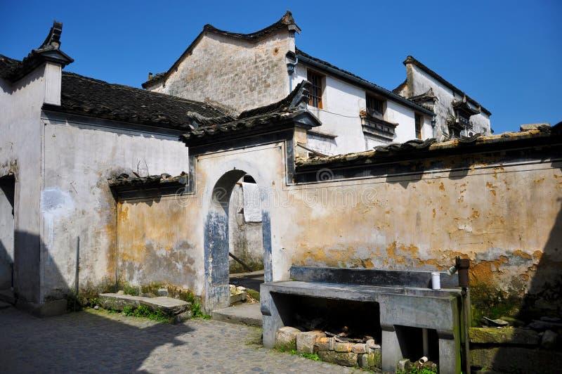 Porcelana antiga do hongcun da vila imagens de stock royalty free