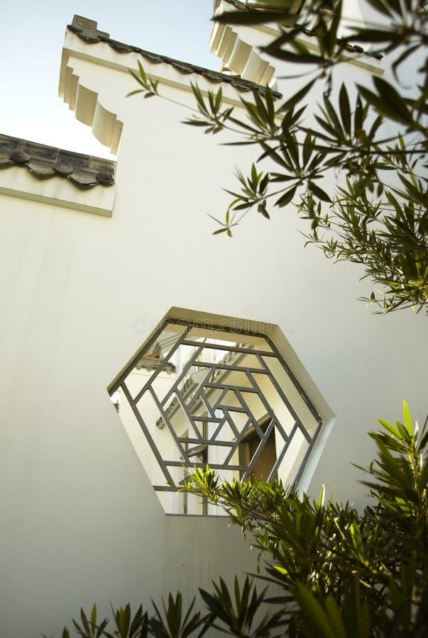 porcelana buduje okno zdjęcia stock