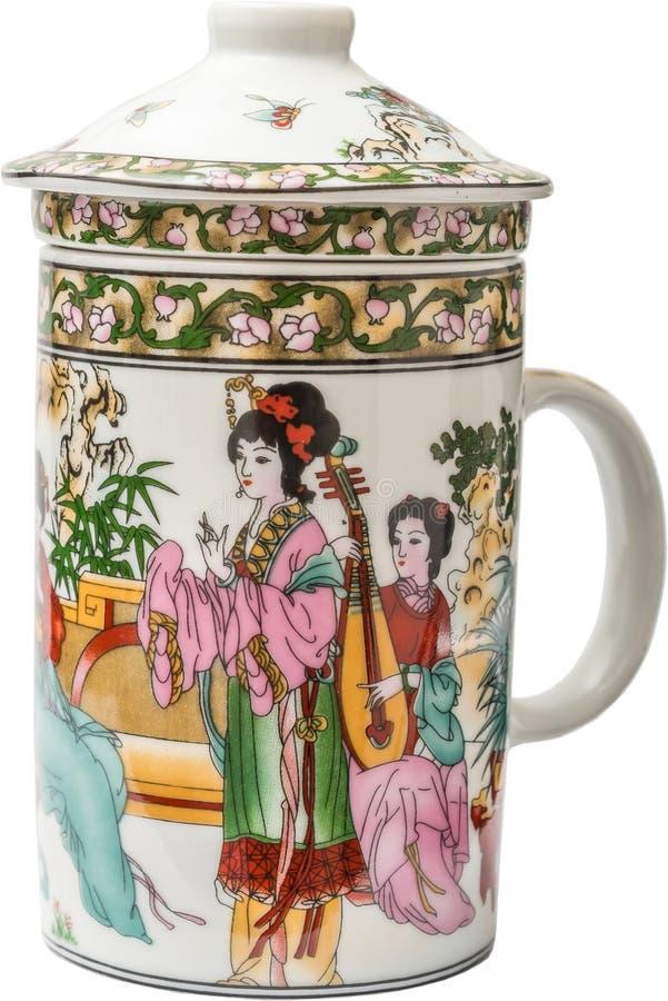 Porcelana china del té imagenes de archivo