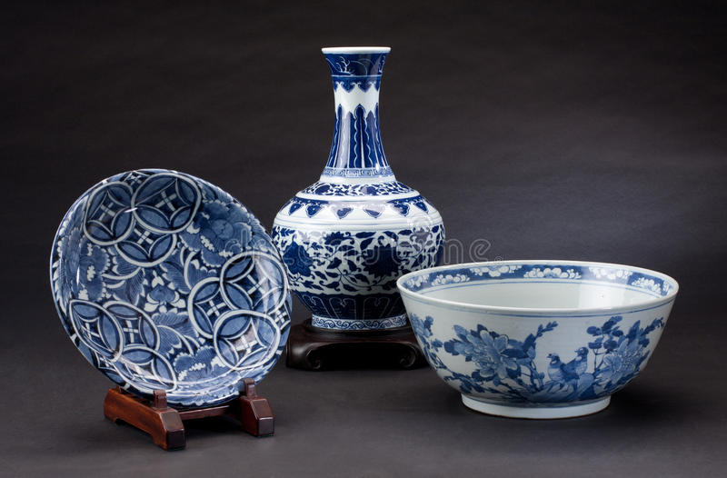 Porcelana chinesa antiga fotografia de stock