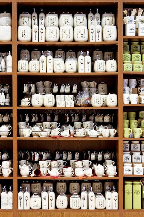 Porcelana de los utensilios de cocina fotos de archivo libres de regalías