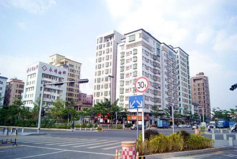 Porcelana de Shenzhen: avenida de phoenix, fuyong fotografia de stock royalty free