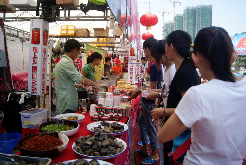 Porcelana de Shenzhen: festival baoan do alimento fotografia de stock