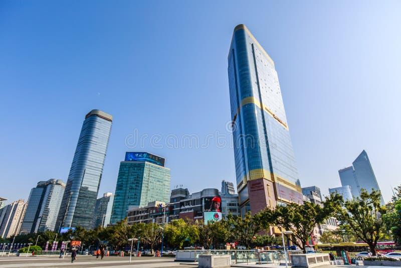 Porcelana do centro: Área do tianhe de Guangzhou fotografia de stock