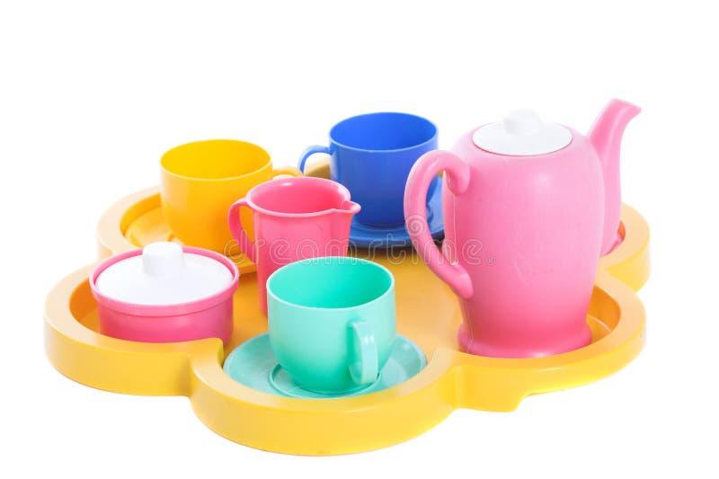 Porcelana do chá do brinquedo imagens de stock royalty free