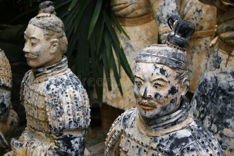 Porcelana dos guerreiros do Terracotta foto de stock royalty free
