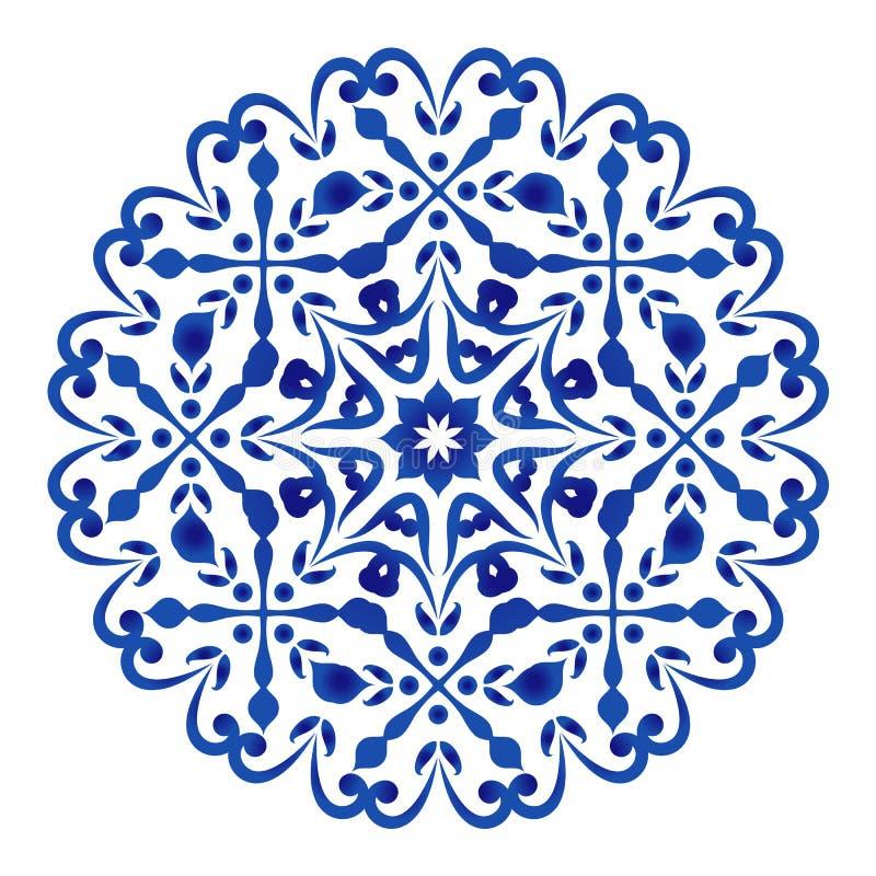 Porcelana kwiat royalty ilustracja