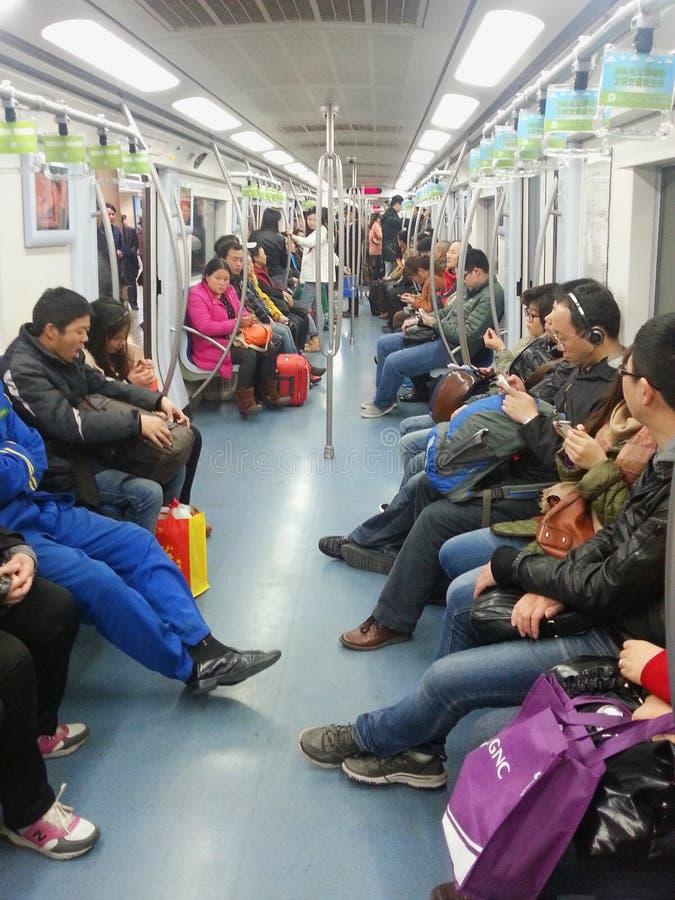 Transporte do metro em beijing fotografia de stock royalty free
