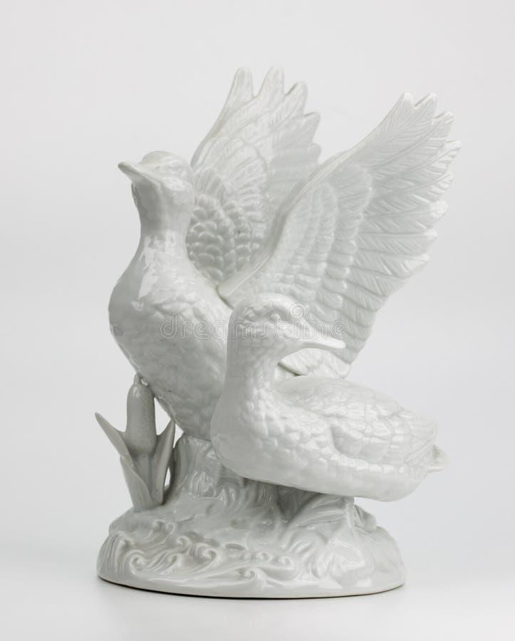 Porcelana nurkuje na szarym tle obrazy royalty free