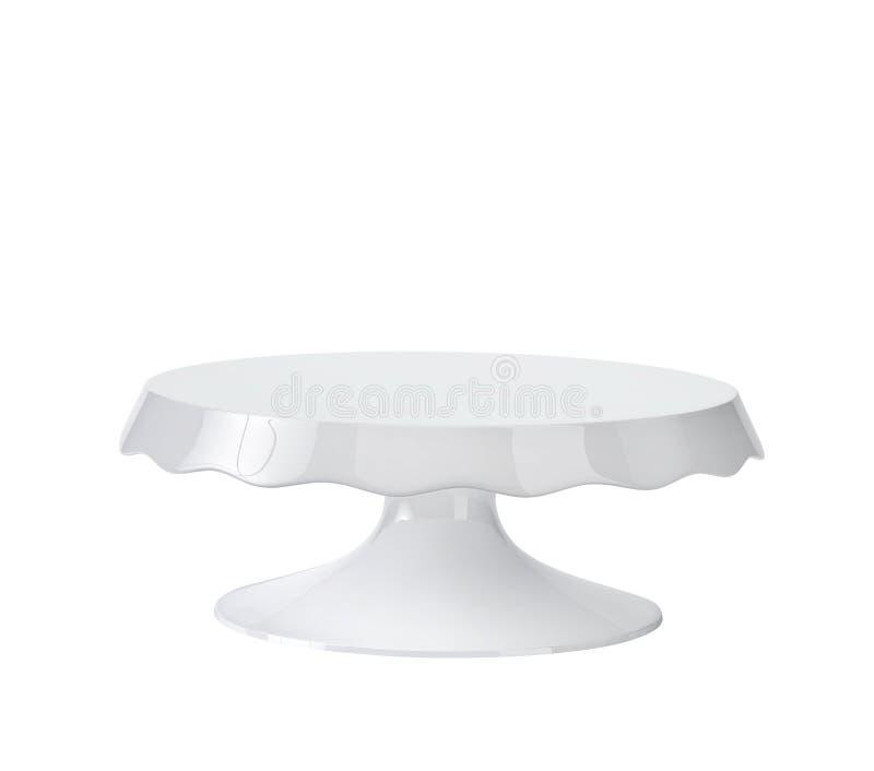 Porcelana torta stojak z ścinek ścieżką royalty ilustracja