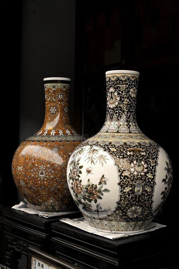 Porcelana velha chinesa. fotografia de stock royalty free