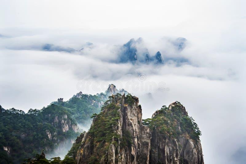 Porcelanowa Anhui góra Huangshan obraz stock