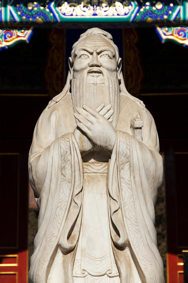 porcelanowa Beijing statua Confucius fotografia royalty free