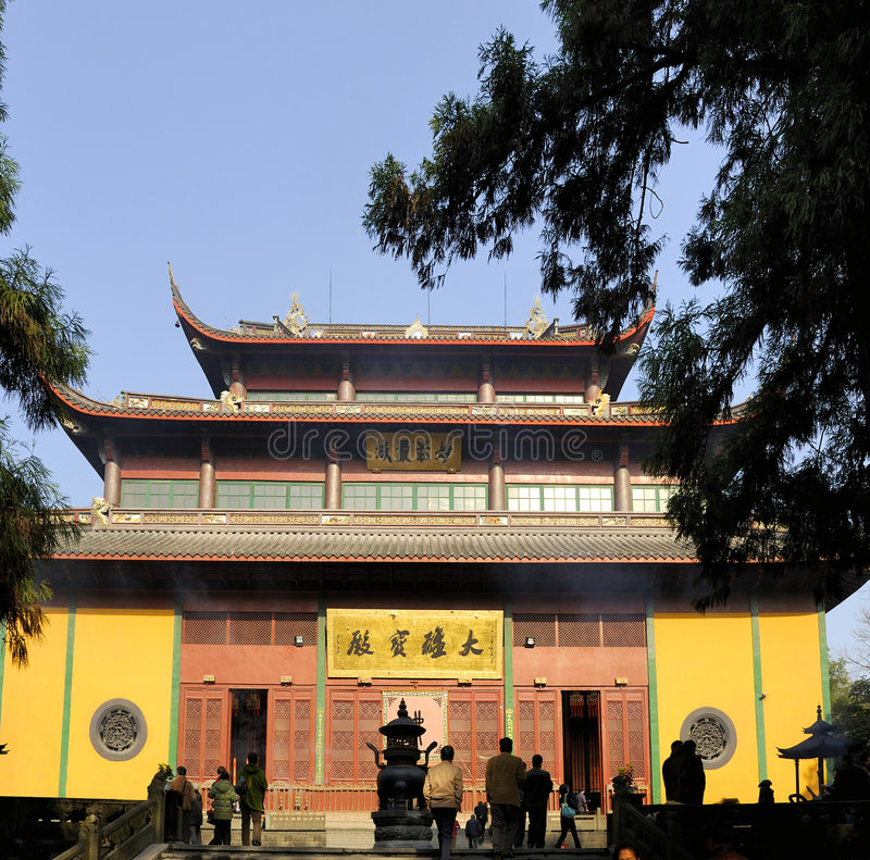 porcelanowa confucian Hangzhou lingyin świątynia zdjęcie royalty free