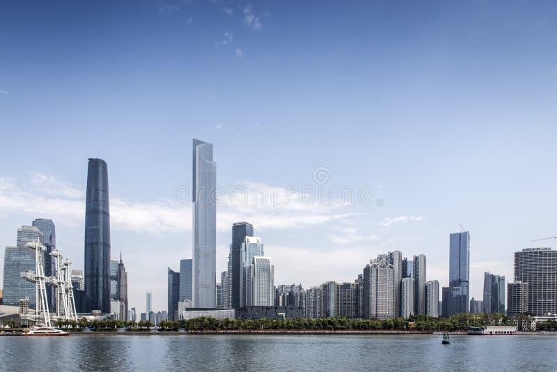 Porcelanowa Guangzhou miasta budowa zdjęcia royalty free