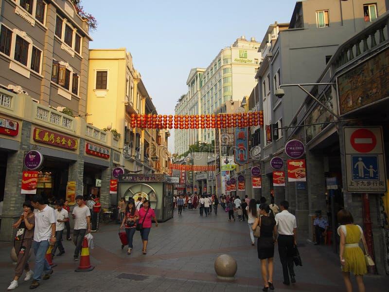 Porcelanowa Guangzhou Reklamy ulica obrazy stock
