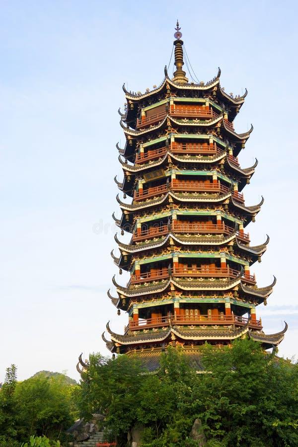 porcelanowa Guilin księżyc pagoda zdjęcia stock