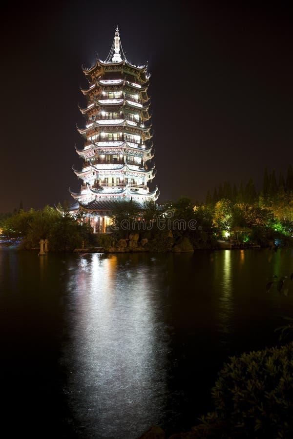 porcelanowa Guilin księżyc pagoda zdjęcie stock