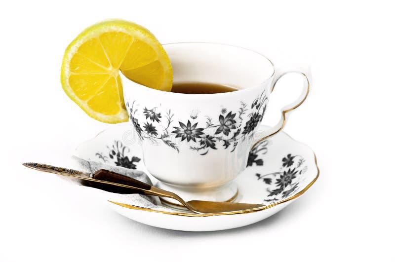 Porcelanowa herbaciana filiżanka 05 obraz royalty free