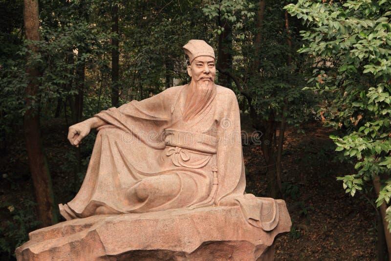 Porcelanowa Pieśniowej dynastii uczonego Su Shi statua fotografia royalty free