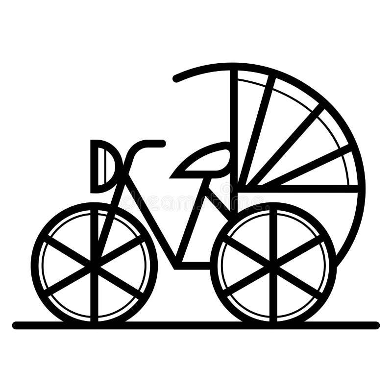 Porcelanowa rowerowa ikona ilustracji