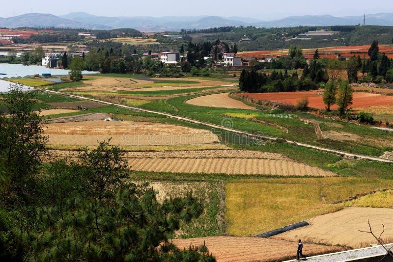Porcelanowa ` s Yunnan Kunming Xundian okręgu administracyjnego Zhong Lingshan pastoralna sceneria obrazy royalty free