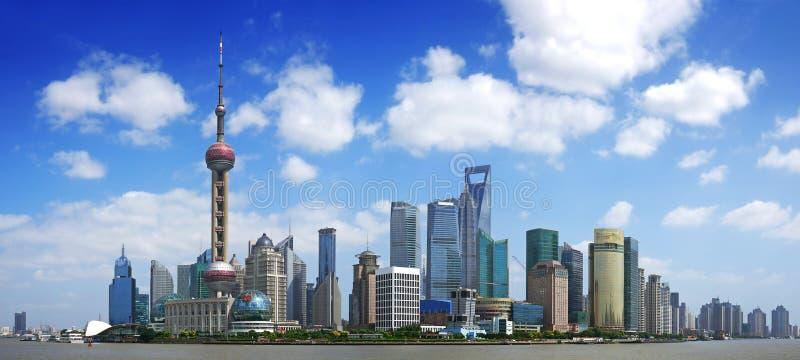 Porcelanowa Shanghai panorama zdjęcia stock